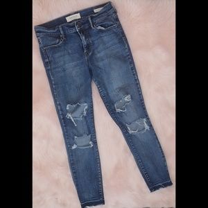 Pacsun super stretch ankle jeggings destroyed